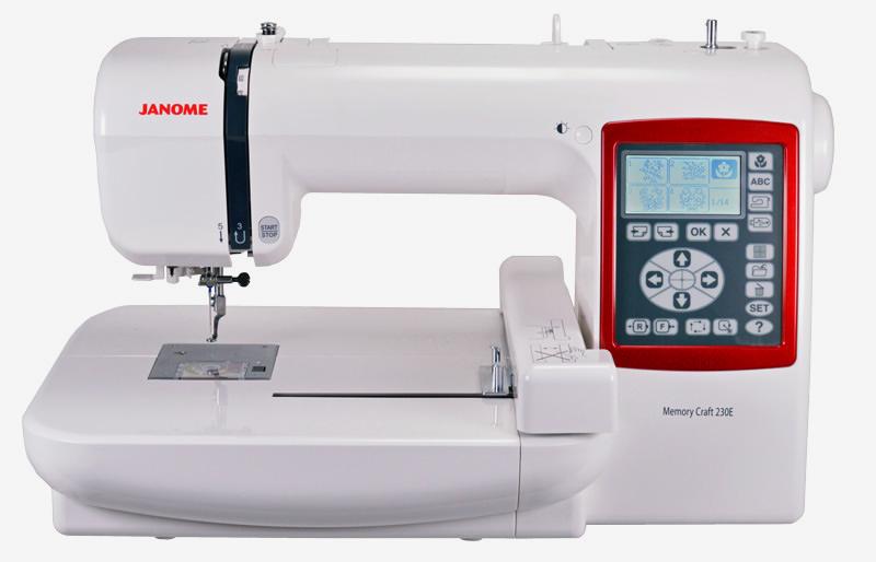 JANOME SERIE MC - MC230E - MC450E - MC15000 - Casa Lorente ...